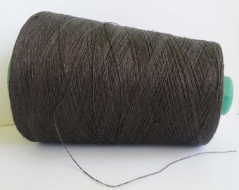 Dark brown Linen yarn, High quality natural linen  thread, flax 1ply 2ply  3ply yarn