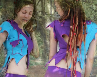 Angel Top ~ cyber futuristic playa wear festival fashion for sale.