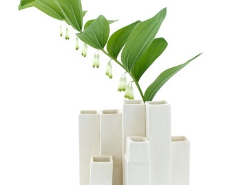 Cityscape Bud Vase- 9 openings