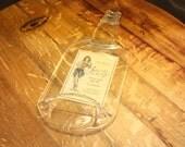 Flat Liquor Bottle - Sailor Jerry Rum - Great Bar Wall Hanging or Cheese Platter