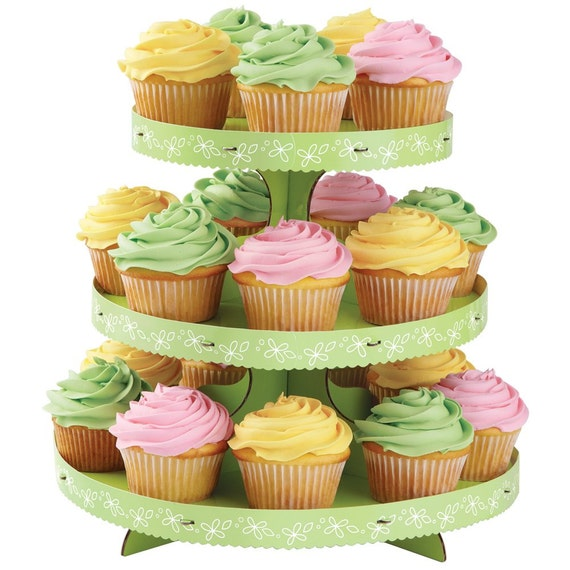 Paper Cupcake Stand-Light Green-Party by wacomarket on Etsy
