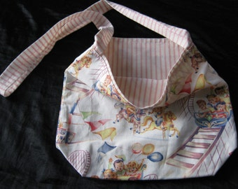 French light weight diaper bag or French Messenger Bag