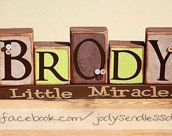 Boy Name Blocks - Name Blocks - Children Name Blocks