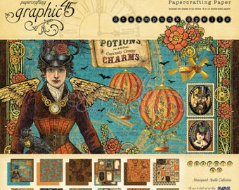 "Graphic 45 ""Steampunk Spells ""  12 x 12 Paper Pad"