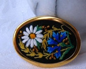Summer dream fine embroidery brooch