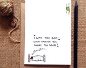 love you dad greeting card - this funny greeting card is a perfect gift for your dad for any occasion ...