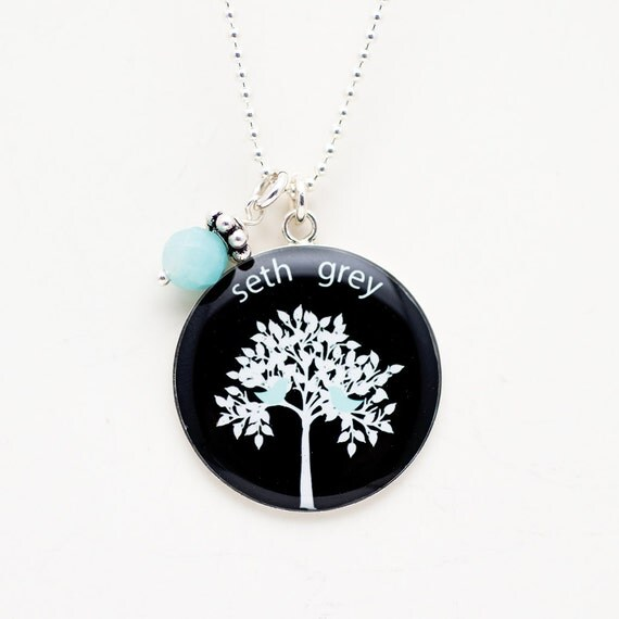 Family Tree Necklace | Mothers Necklace| Personalized Family Tree Pendant | Sterling Silver