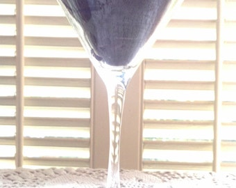 Martini Glass Candle Mad Man Cave/bar decor/Gift OOAK