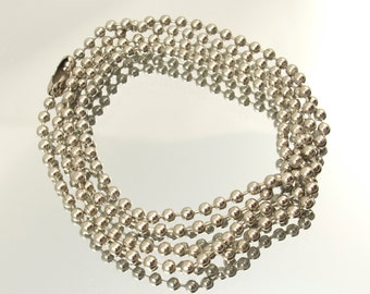 "24"" Nickel Plated 2.3mm Ball Chain with Connector #550-119001"
