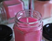 Champagne Strawberry Baby Jar Soy Candle
