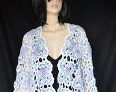 Crochet Multicolored Wide Bolero with Accessories