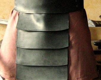 Medieval Barbarian Gladiator Leather Belt Armor