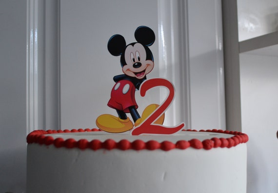 Mickey Mouse  Birthday Number PERSONALIZED cake topper or ANY character