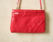 Flame Red Purse by Le Prive