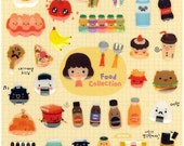 Korean Scrapbook Die-cut Epoxy Stickers - Food Collection V1 (STSM03095)