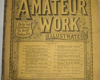 Unique Antique Vintage Victorian DIY Magazine AMATEUR WORK ILLuStRaTeD March 1882 with Project Blueprint