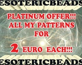 Beading Patterns Sale - All my patterns for only 2 euro each