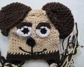Puppy Dog Beanie Hat. Any size