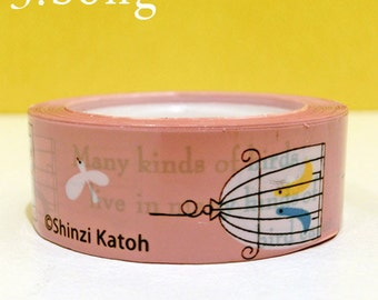 Shinzi Katoh Deco Masking Tape Song Bid Cage-  Japanese Deco Tape