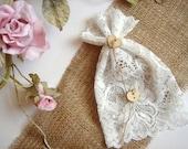 50 Lace  Favor Bags, White Lace Favor Bags,