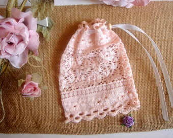 Baptism Lace Favor Bags, Lace Candy Bag ,Rustic Favor Bag, Vintage Lace  Bags,Vintage Wedding
