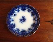 Flow Blue F and Sons TRENT BURSLEM--Vintage Luncheon Plate