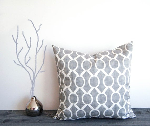 Throw Pillow Case 20 X 20 : Gray throw pillow cover 20 x 20 One gray by ThePillowPeople