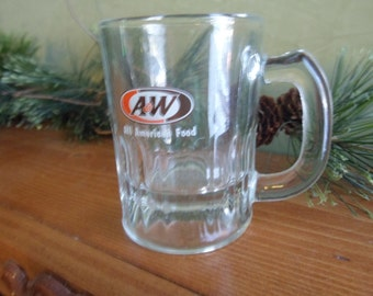 Minature A & W Rootbeer Glass Mug, Childs A and W Rootbeer Glass Mug, 4 Ounces
