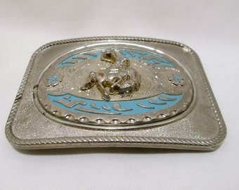 Vintage Western Cowboy Bronco Horse Belt Buckle