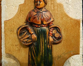 "Earthenware wallplate ""Remembrance St Tropez"""