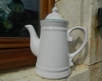 Coffee Maker in white earthenware