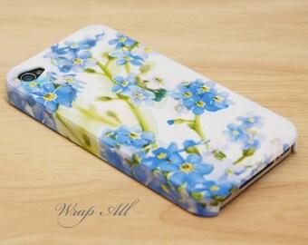 Blue Forget Me Not Floral iPhone SE case iPhone 6S case iPhone 6 case iPhone 6S Plus case iPhone 6 Plus case iPhone 5S case iPhone 4S case