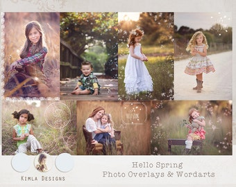 Hello Spring Photo Overlays& Wordarts