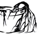 original ink illustration - Girl In A Pot (not a print)