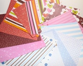 Paper pack 6 x 6 inch destash, hearts and blues, 15 sheets one side scrapbooking paper
