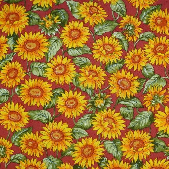 Sunflower Pattern Fabric
