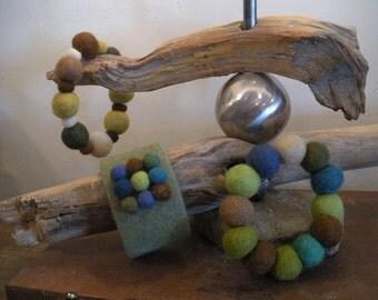 Felted Wool Bracelets