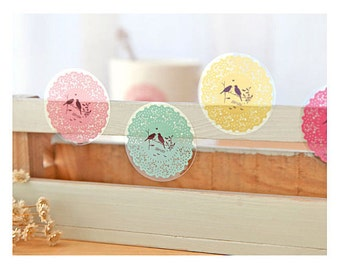 4 Sheets Korea translucent/clear deco sticker set