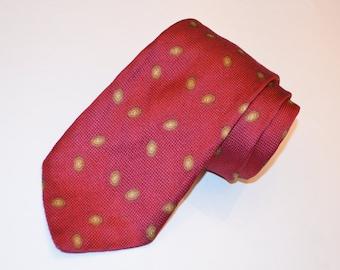 Red Necktie, Silk Tie, Vintage Necktie, Robert Talbott Tie, Men's Silk Necktie, 80's Tie, Men's Neckwear, Red Tie, SALE