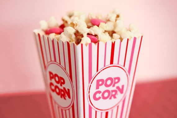 Valentine S Popcorn Box Pink White Amp Red Mini Gift Or By