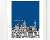 Toronto Skyline Poster - Toronto Ontario, Canada City Art Print - VERSION 2