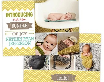 Birth Announcement Template for Photographers Photo Card Template Photography Birth Announcement Photoshop Card Template - BA150