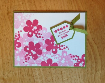 Stampin Up valentine's day / everyday love card - you make me smile