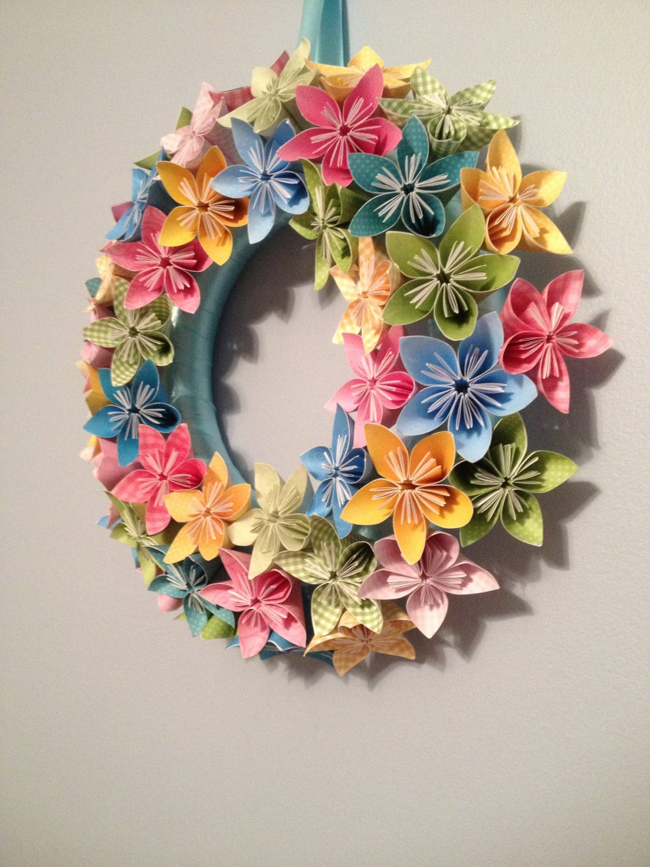 origami paper flower wreath 12 wedding birthday