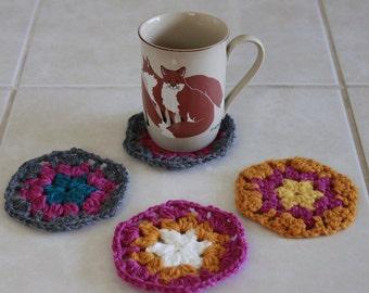 Set of 4 Crochet Coasters
