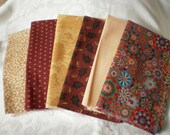 Gold and Berry Fat Quarters (6)