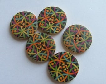 Graphics Painted button 3cm
