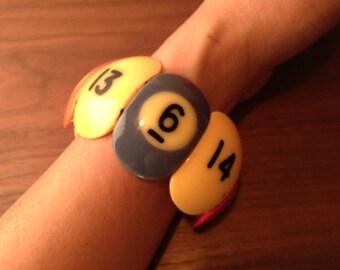 Vintage Pool Ball Bakelite bracelet 1950's