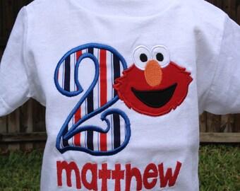 Elmo Inspired Birthday Shirt - Personalized Birthday - Personalized Elmo - Boy - Toddler - Baby