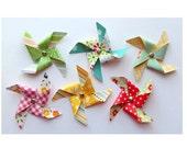 Handmade Pinwheel Embellishments